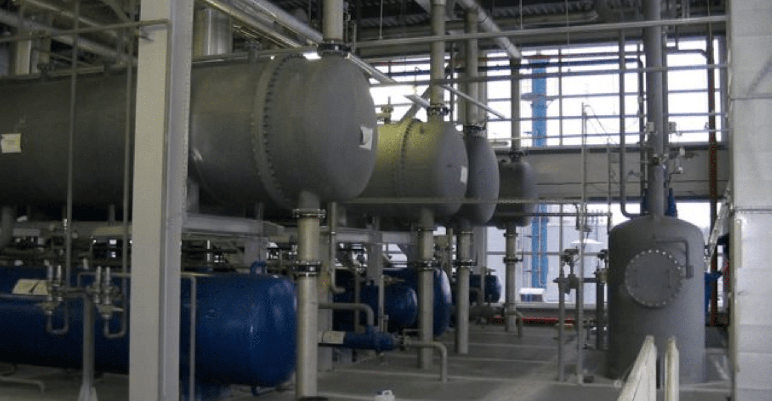 Boiler room of a commercial building